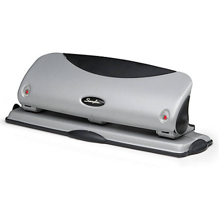 Swingline® Easy-View 3-Hole Punch, Silver