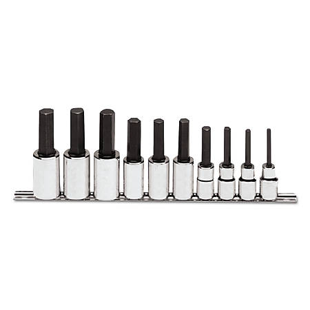 "PROTO 10-Piece Hex-Bit Socket Set, Metric, 1/2"" Drive, 6mm to 19mm"