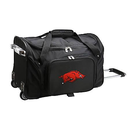 "Denco Sports Luggage L401 Arkansas 2-Wheel Carry-On Duffel Bag, 22""H x 12""W x 12""D, Black"