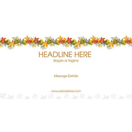 Custom Horizontal Banner, Color Leaves