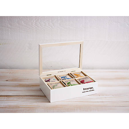 teapigs® Meeting Room Tea Bundle With Wooden Case, 3.5 Grams, Assorted, Set Of 300 Tea Bags