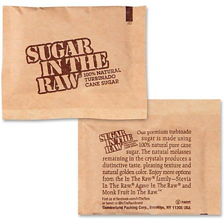Sugar In The Raw Turbinado Cane Sugar - Natural Sweetener - 400/Carton