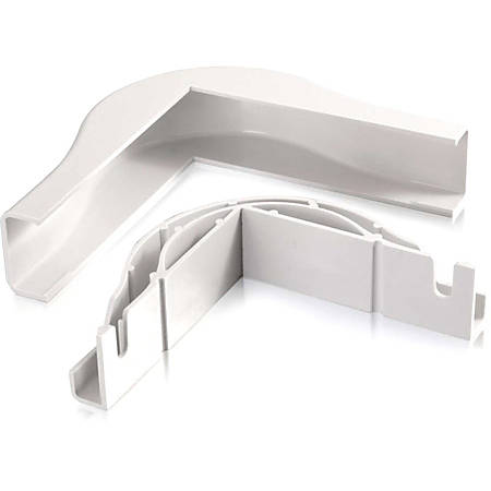 C2G Wiremold Uniduct 2800 Bend Radius Compliant External Elbow - White