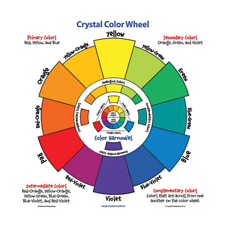 Crystal Productions Large Student Color Wheel, 17'' x 17'', Multicolor, Grades Pre-K - 9