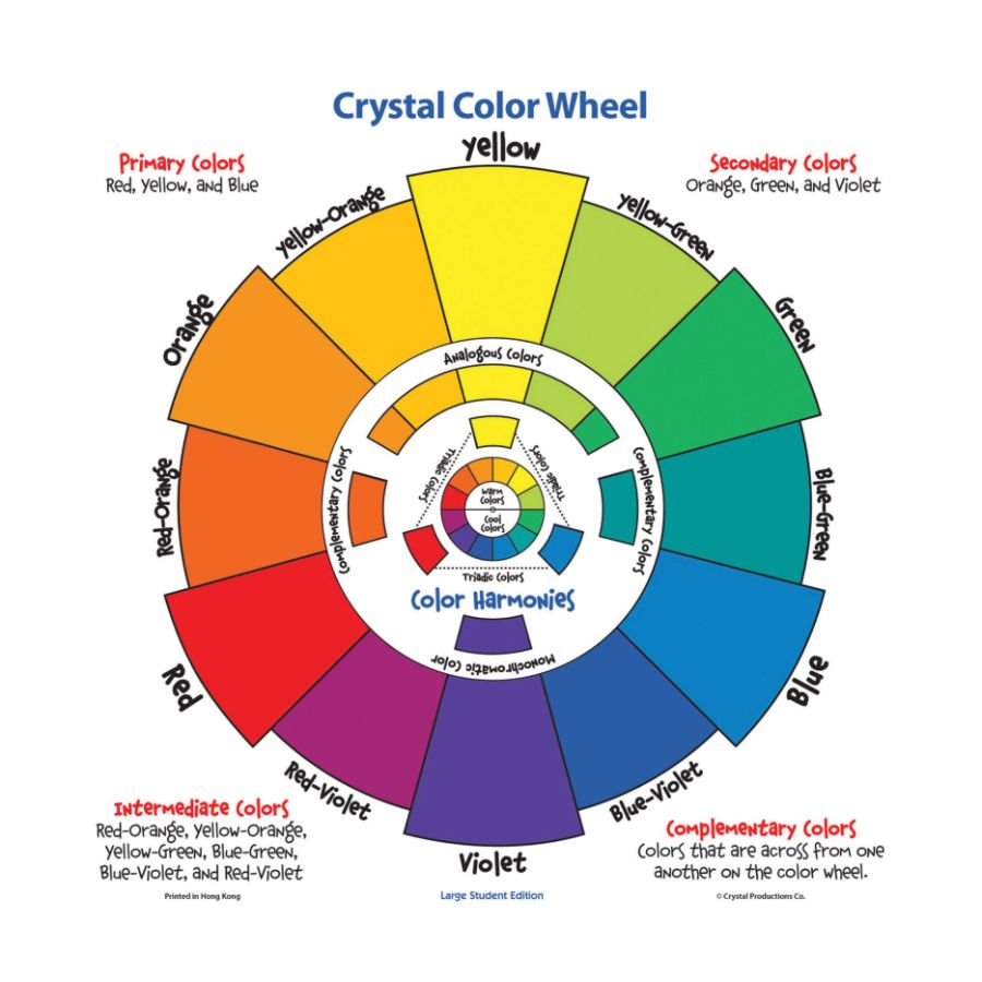 Crystal Productions Large Student Color Wheel 17 X 17 Multicolor