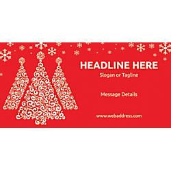 Custom Horizontal Banner Red Christmas
