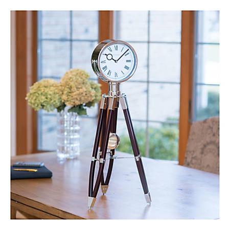 FirsTime & Co.® Tripod Pendulum Clock, Chrome/Espresso