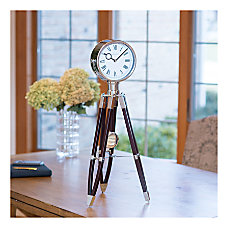 FirsTime Co Tripod Pendulum Clock ChromeEspresso