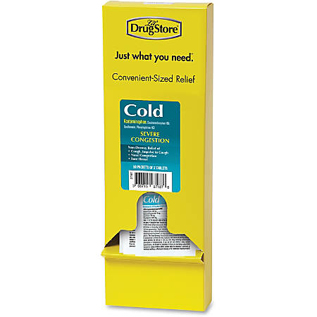 Lil' Drug Store LIL' Drug Store Refill Severe Cold Medicine - For Headache, Sore Throat, Cough, Chest Congestion, Nasal Congestion, Common Cold - 50 / Box