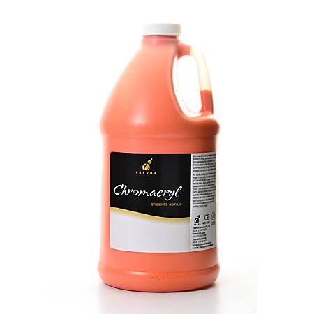 Chroma Chromacryl Students' Acrylic Paint, 0.5 Gallon, Orange Vermilion
