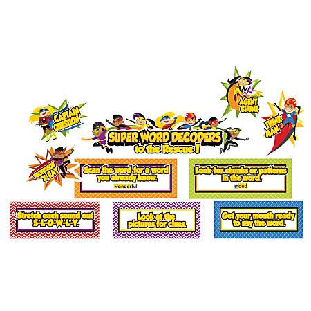 Carson-Dellosa Super Power Decoding Words Mini Bulletin Board Set, Multicolor, Grades K-3