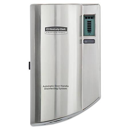 Kimberly Clark® Automatic Door-Handle Disinfectant Dispenser, Silver