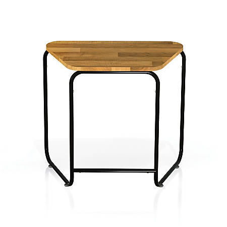 Safco® Connect™ Teaming Series Table, Single Work Table, Trapezoid, Natural/Black