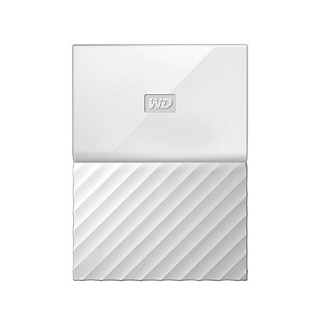 WD My Passport® 3TB Portable External Hard Drive, White