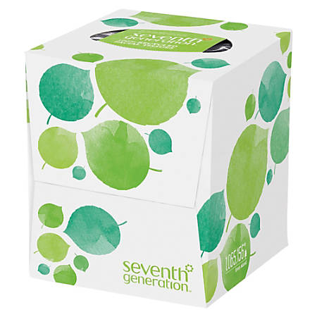 Seventh Generation™ 2-Ply Facial Tissues, 100% Recycled, 85 Sheets Per Box