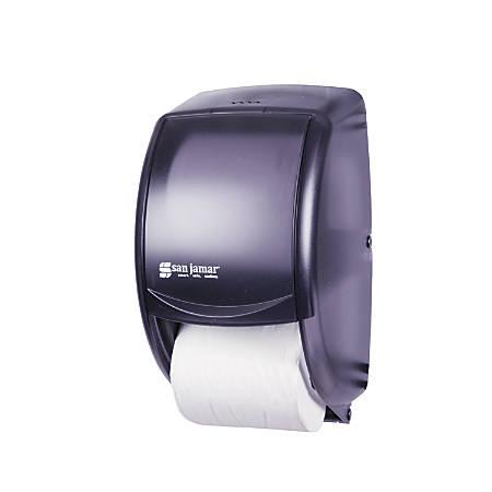 San Jamar® Duett Standard Bathroom Tissue Dispenser, Pearl Black