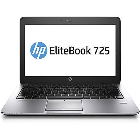 "HP EliteBook 725 G2 12.5"" LCD Notebook - AMD A-Series A8 Pro-7150B Quad-core (4 Core) 1.90 GHz - 4 GB DDR3L SDRAM - 180 GB SSD - Windows 7 Professional 64-bit upgradable to Windows 8.1 Pro - 1366 x 768"
