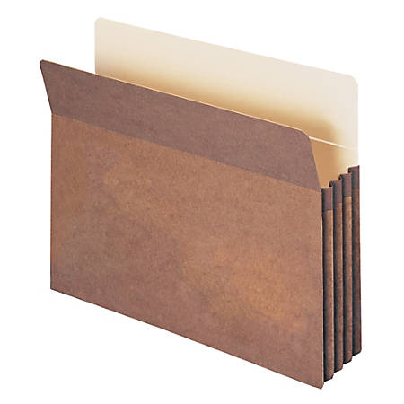 """Smead® Expanding File Pockets, 3 1/2"""" Expansion, Letter Size, 100% Recycled, Redrope, Box Of 25"""