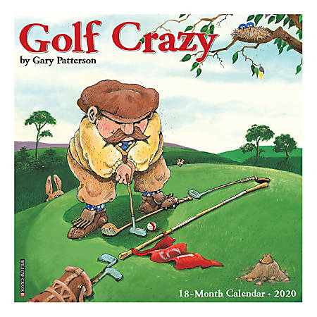 "Willow Creek Press Humor & Comics Monthly Wall Calendars, 12"" x 12"", Golf Crazy By Gary Patterson, January To December 2020"