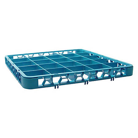 "Carlisle OptiClean 25-Compartment Cup Rack Extender, 1-3/4""H x 19-3/4""W x 19-3/4""D, Blue"