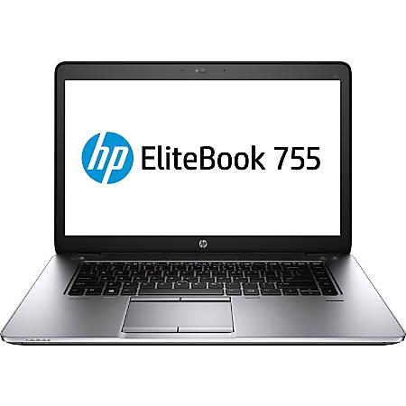 "HP EliteBook 755 G2 15.6"" LCD Notebook - AMD A-Series A8 Pro-7150B Quad-core (4 Core) 1.90 GHz - 8 GB DDR3L SDRAM - 180 GB SSD - Windows 7 Professional 64-bit upgradable to Windows 8.1 Pro - 1920 x 1080"