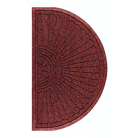 "The Andersen Company Waterhog Eco Grand Premier Half-Oval Floor Mat, 48"" x 27 5/8"", Regal Red"
