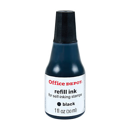 Office DepotR Brand Self Inking Refill Ink 1 Oz Black