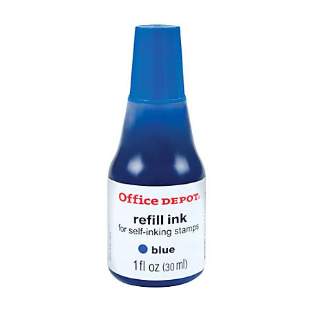 Office Depot® Brand Self-Inking Refill Ink, 1 Oz, Blue