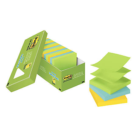 "Post it® Pop up Notes, 3"" x 3"", Jaipur, Pack Of 18 Pads"