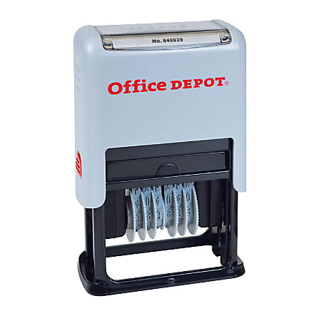Office Depot® Brand Self-Inking Numberer, Black