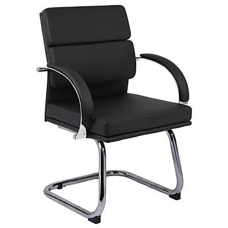 """Boss® Caressoft Plus Guest Chair, 36 1/2""""H x 24""""W x 24""""D, Black"""