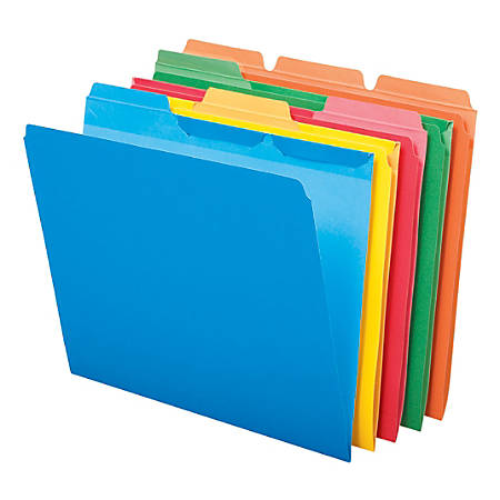 Pendaflex® Ready-Tab® File Folders, 1/3 Cut, Assorted, Letter, Assorted, Box Of 50