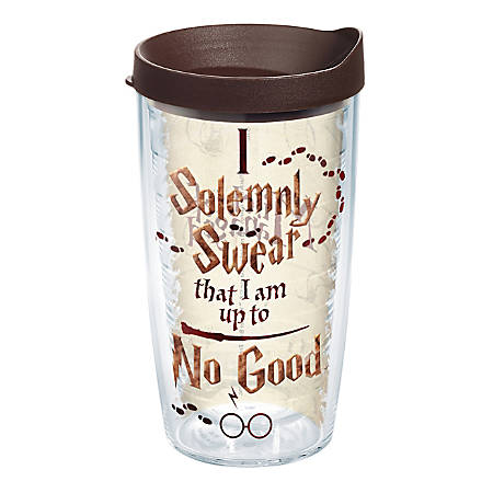Tervis Harry Potter Tumbler With Lid, I Solemnly Swear, 16 Oz, Clear