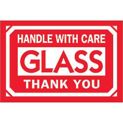 Tape Logic Preprinted Labels DL1062 Glass