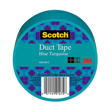 "Scotch® Colored Duct Tape, 1 7/8"" x 20 Yd., Aqua"