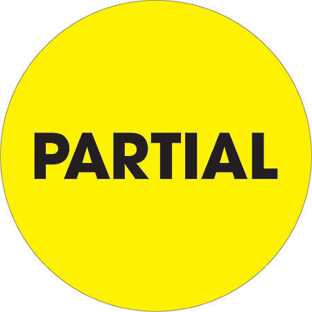 """Tape Logic® Preprinted Special Handling Labels, DL1277, Partial, Round, 2"""", Fluorescent Yellow, Roll Of 500"""