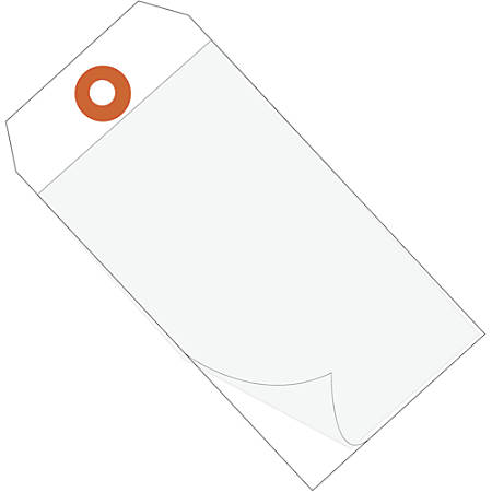"""Office Depot® Brand Self-Laminating Tags, 6 1/4"""" x 3 1/8"""", 95% Recycled, White, Case Of 100"""