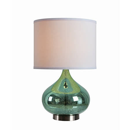 "Kenroy Home Annalie Accent Lamp, 14""H, Green Antique Mercury"