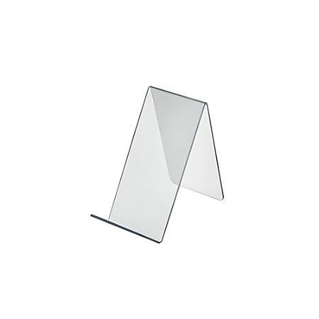 "Azar Displays Tabletop Easels, Acrylic, 6 1/2""H x 3 1/2""W x 7 1/2""D, Clear"