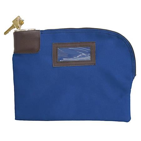 """ControlTek 7-Pin Canvas Locking Night Deposit Bag, 8 1/2"""" x 11"""", Blue"""