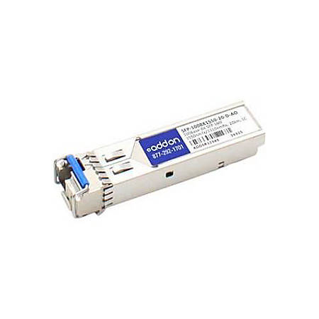 AddOn ZyXEL SFP-100BX1550-20-D Compatible TAA Compliant 100Base-BX SFP Transceiver (SMF, 1550nmTx/1310nmRx, 20km, LC, DOM)