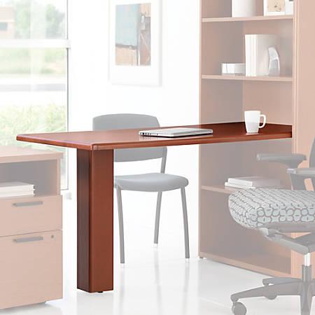 HON® 10700 Series™ Prestigious Laminate Peninsula Desk With End Panel, Harvest Cherry