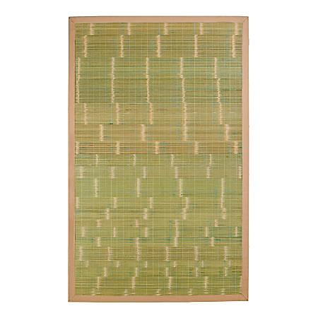 Anji Mountain Key West Bamboo Rug, 4' x 6', Green