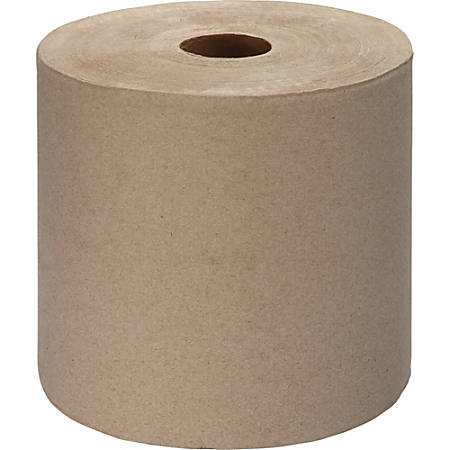 "Genuine Joe Embossed Hardwound Roll Towels, 7.88"" x 1000"", Kraft, Carton Of 6"