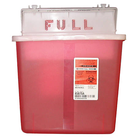 Unimed Sharpstar Container With Counter Balanced Lid, 5 Quart, Transparent Red