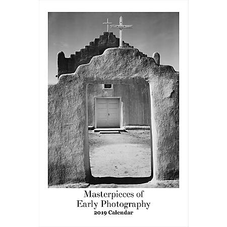 """Retrospect Monthly Wall Calendar, Masterpieces Of Early Photography, 19-1/4"""" x 12-1/2"""", Multicolor, January to December 2019"""