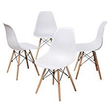 Mid century Modern Dining Chair WhiteBeech