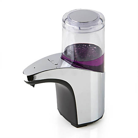 Mind Reader Automatic Touchless Hand Soap Dispenser With Clear Chamber, Silver