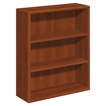 HON® 10700 Series Laminate Bookcase, 3 Shelves, Cognac