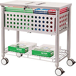 Vertiflex File Cart With Locking Top